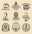 old brewery logos set kraft beer retro signs or vector image vector image