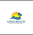 palm beach island logo design inspiration vector image vector image