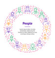 people avatars characters staff thin line banner vector image