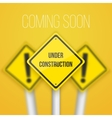 Photorealistic Website Coming Soon Road vector image vector image