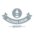 quality cognac logo simple gray style vector image vector image