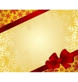 Red bow on a red ribbon with white background vector image vector image