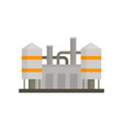 refinery plant icon flat style vector image vector image