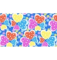 Seamless candy color hearts pattern Valentines vector image vector image