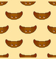 seamless pattern with croissant cute fast food vector image vector image