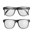 set of black glasses isolated on white background vector image