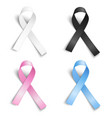 set of realistic ribbons vector image