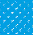 shower pattern seamless blue vector image vector image