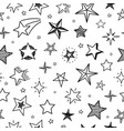 sketch stars seamless pattern hand drawn grunge vector image vector image