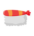 sushi rice fish vector image