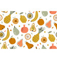 tropical summer fruit seamless pattern vector image