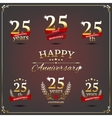 Twenty five years anniversary signs collection vector image vector image