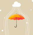 Umbrella and cloud vector image