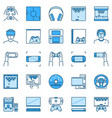 video game creative icons set - game console vector image