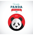 Weekly Panda Cute Flat Animal Icon - Angry vector image