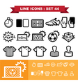Soccer football Line icons set 44 vector image