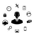 Concept of Help Desk Service vector image