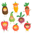 fruit kidies vector image