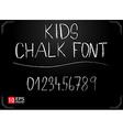 Kids chalk font vector image