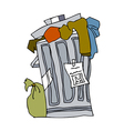 A view of wastebasket vector image vector image