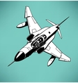 air fighter vector image