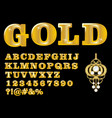 Alphabet in luxury gold design uppercase letters vector image