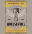 autoservice banner vector image