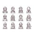 avatar male female men women cartoon character vector image vector image