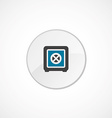 bank safe icon 2 colored vector image