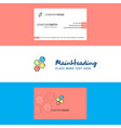 beautiful shells logo and business card vertical vector image