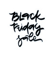 black friday sale sale hand lettering design vector image