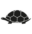 black turtle icon vector image vector image
