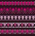 borders with pixel skulls vector image vector image