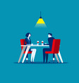 business meeting in restaurant concept business vector image