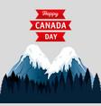 canadian landscape scene icon vector image vector image