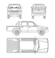car pickup truck 5 passengers vector image vector image