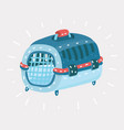 cat transport box carrying case vector image vector image