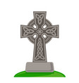 celtic ornamental cross isolated on white vector image