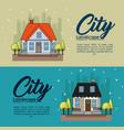 city landscape design vector image vector image