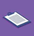 clipboard checklist isometric icon vector image