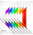 Colorful ribbons set vector image vector image