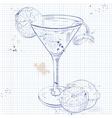 Cosmopolitan on a notebook page vector image vector image