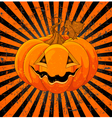 Cute Halloween Pumpkin vector image
