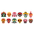 Dead day skulls mexican sugar human head bones