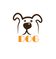 dog head icon vector image vector image