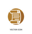 doodle scroll icon vector image