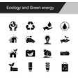 ecology and green energy icons design for vector image vector image