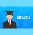 education process educational hero website stock vector image