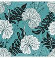elegant seamless vintage pattern leafs vector image