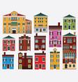 european houses italy vector image